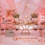 Fiesta de 15 años en color rose gold