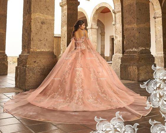 Vestidos de quinceañera rose gold