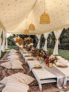 Decoración para fiesta de quince años estilo picnic