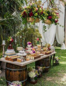 Pasteles para fiesta de quince tipo picnic