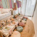 Mobiliario para quince años estilo picnic